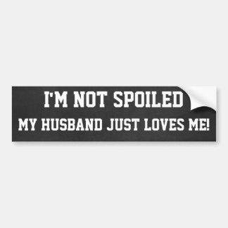 Lustiges verdorben nicht, Ehemann-Lieben ich Autoaufkleber