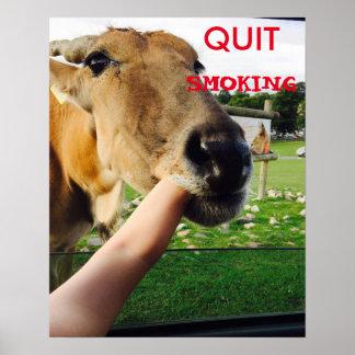 Lustiges verlassenes rauchendes Plakat