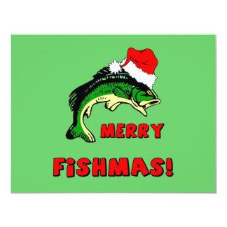 Lustiges Weihnachtsfischen 10,8 X 14 Cm Einladungskarte