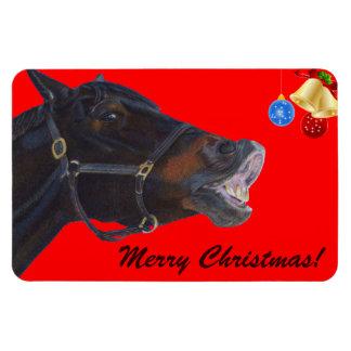 Lustiges Weihnachtspferderstklassiger Flexi Magnet