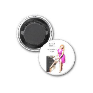Lustiges Zitat-Retro Pin-up-Girl-Art-Magnet Runder Magnet 3,2 Cm