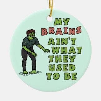 Lustiges Zombie-Gehirn-hohes Alter Keramik Ornament
