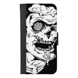 Lustiges Zombie-Horror-Gesicht - cool und iPhone 8/7 Geldbeutel-Hülle