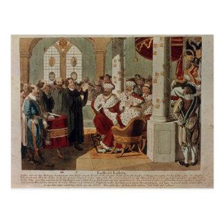 Luther an der Diät der Würmer Postkarte