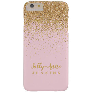 LUXE eleganter bezaubernder GoldGlitter erröten Barely There iPhone 6 Plus Hülle