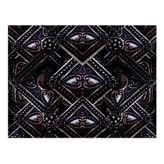 Luxus Jewels Digital-Muster Postkarte