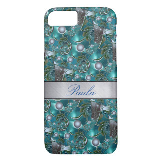 Luxus-Perlen-Silber-Schein iPhone 6 Fall iPhone 8/7 Hülle