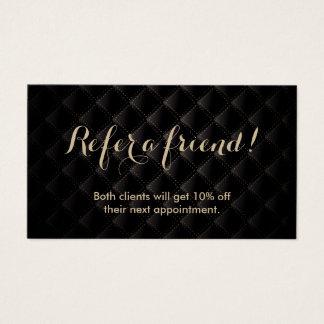Luxusschwarzes u. Gold der Empfehlungs-Karten-  Visitenkarten
