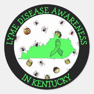 Lyme-Borreliose-Bewusstsein in Kentucky-Aufklebern Runder Aufkleber