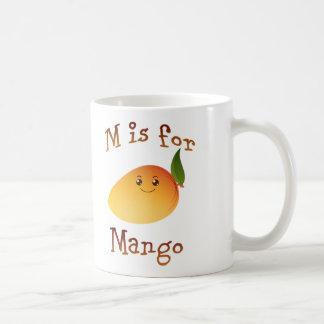 M ist für Mango Kaffeetasse
