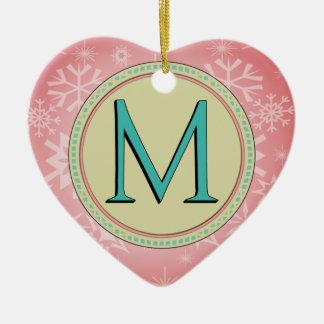 M-MONOGRAMM-BUCHSTABE KERAMIK Herz-Ornament