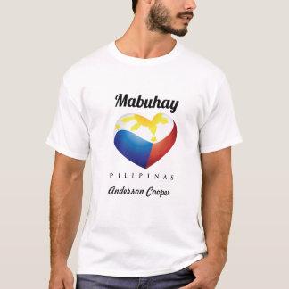 Mabuhay Pilipinas, Herz-Flagge fertigen weißes T-Shirt