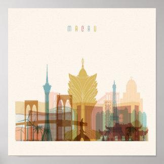 Macao, StadtSkyline der China-  Poster