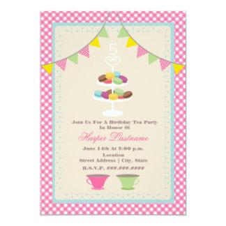 Macaron Geburtstags-Tee-Party 12,7 X 17,8 Cm Einladungskarte