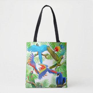 Macaw-Papageien-Dschungel ganz über Taschen-Tasche