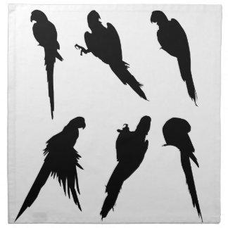 Macaw-Silhouette-Set Stoffserviette