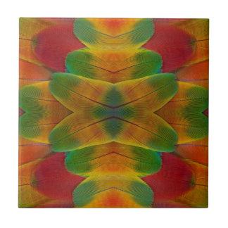 Macawpapageien-Feder-Kaleidoskop Fliese