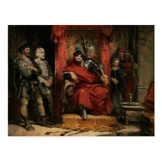 Macbeth, der die Mörder anweist Postkarte