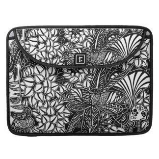 Macbook Prohülse mit gezeichneter Kunst der Gärten MacBook Pro Sleeve