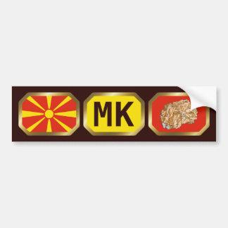 Macedonia-Flaggen-Karten-Code-Autoaufkleber Autoaufkleber