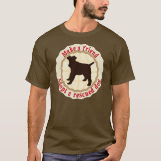 Machen Sie einen Freund - Draht-Foxterrier T-Shirt