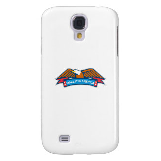 Machen Sie es in Amerika-Fahne Eagle Retro Galaxy S4 Hülle