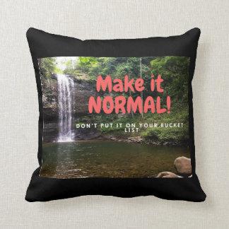 Machen Sie es normal! Kissen