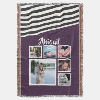 Machen Sie Ihr eigenes lila gestreiftes Decke