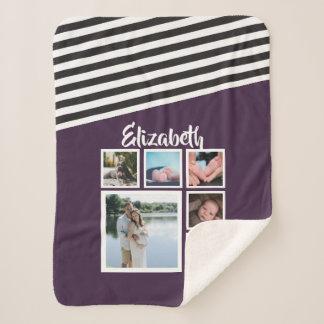 Machen Sie Ihr eigenes personalisiertes lila Sherpadecke
