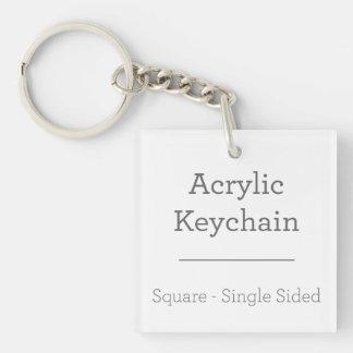 Machen Sie Ihr eigenes quadratisches Keychain Einseitiger Quadratischer Acryl Schlüsselanhänger