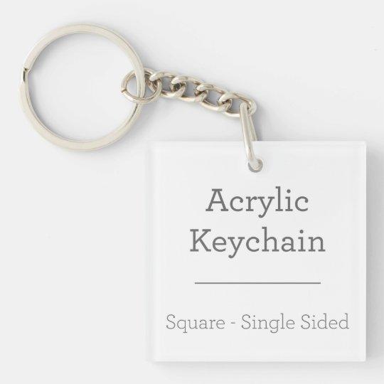 Quadrat (einseitig) Schlüsselanhänger
