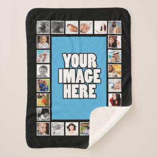 Machen Sie Ihre eigene 25 Collage des Foto-DIY Sherpadecke