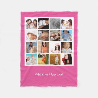 Machen Sie Ihre eigene Foto-Collage personalisiert Fleecedecke