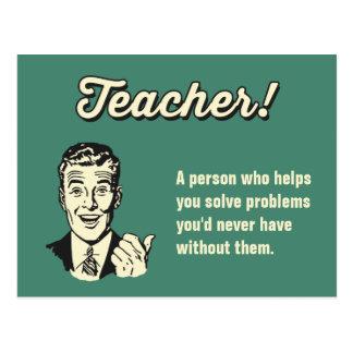 Machen Sie Ihre eigene lustige Lehrer-Definition Postkarte