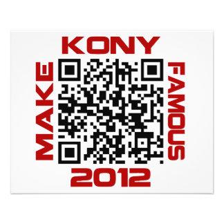 Machen Sie Kony berühmten 2012 Video-QR Code 11,4 X 14,2 Cm Flyer