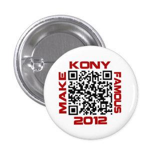Machen Sie Kony berühmten 2012 Video-QR Code Runder Button 2,5 Cm