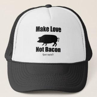 Machen Sie Liebe-nicht Speck Truckerkappe