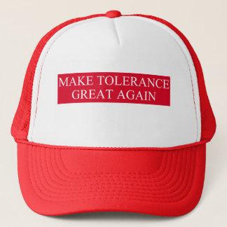 Machen Sie Toleranz groß wieder Truckerkappe