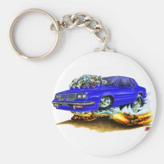 Macheten-Blau-Auto 1983-88 Standard Runder Schlüsselanhänger