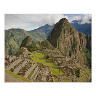 Machu Picchu, Inkastadt in Peru-Plakat Poster