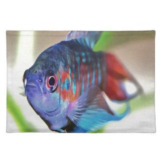 Macropodus opercularis - Paradies-Fische Tischset