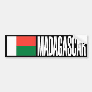 Madagaskar-Flagge Autoaufkleber