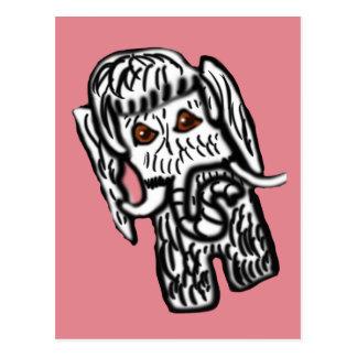 Madalynne das Mammut Postkarte