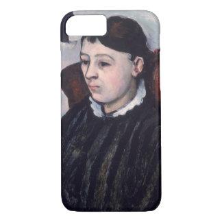 Madame Cezanne, c.1883-85 (Öl auf Leinwand) iPhone 8/7 Hülle