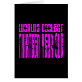 Mu0026#228;dchen 13. Geburtstags Rosa Welten Coolste Karte