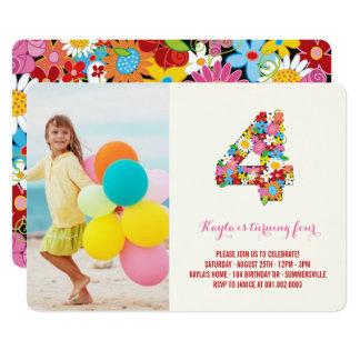 4 Geburtstag Der Mädchen Einladungen | Zazzle.at, Einladungsentwurf