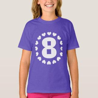 Mädchen-8. Geburtstags-Shirt | Alter acht mit T-Shirt