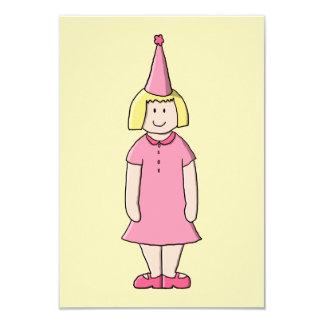 Mädchen an einer Geburtstags-Partei 8,9 X 12,7 Cm Einladungskarte