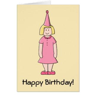 Mädchen an einer Geburtstags-Partei Grußkarte