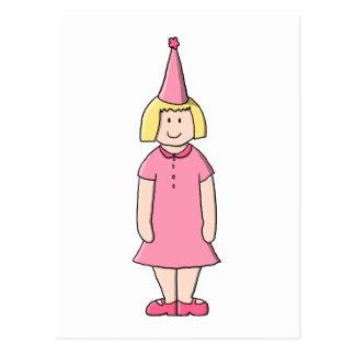 Mädchen an einer Geburtstags-Partei Postkarten